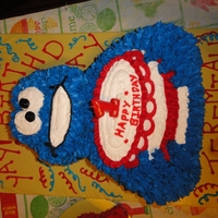 1St Birthday Cookie Monster Cake