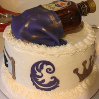 Crown Royal Birthday Cake