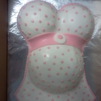 Pregnant Belly Baby Shower Cake   This is my first Pregnant Belly cake to ever make and only my second attempt at a fondant cake!!!