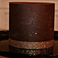 Ganache Covered Chocolate Cake Ganache covered chocolate cake