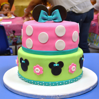 Baby Mini Mouse Cake Designed To Match Party Invitations Baby Mini Mouse cake designed to match party invitations