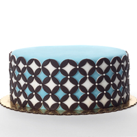 Geometric Circles Birthday Cake Geometric circles birthday cake