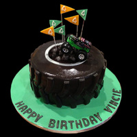 Grave Digger Monster Truck Birthday Cake Grave Digger monster truck birthday cake