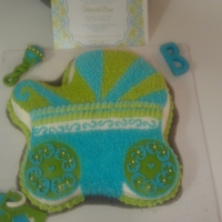 1St Baby Buggy Cake Ignore the greasy cake board....smh