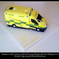 3D Ambulance Cake   This cake was for guests attending the Evening Wedding Reception, both the bride & groom work within the Ambulance Service in the Uk.