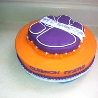 Clemson Tigers Birthday Cake