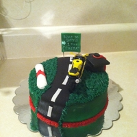 Motorcycle Graduation Cake