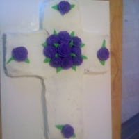 Cross A cross cake I made for my grandma's lunch today. All BC with an old family cake recipe.