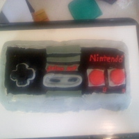 Nes Controller  First time using MMF. It went ok. MMF was getting warm so started falling apart when I was trying to put it on the cake. I made it for my...