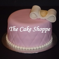Pink Cake W/white Bow