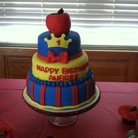 Snow White Themed Cake For My Nieces First Birthday Snow White themed cake for my niece's first birthday.
