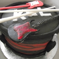 Kings Of Leon Drum Kings of Leon cake I made for a 16th Birthday