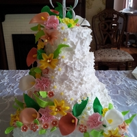Cascading Flowers All edible fondant flowers