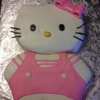 Hello Kitty Birthday Cake   Used the Wilton Hello Kitty head and carved the body. MMF over BC.