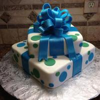 Birthday Gift Box Cake MMF over Butter cream...standard square cake pans used.