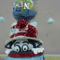 Dr. Seuss Baby Shower Cake   Final product.