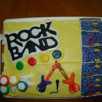 Rock Band Cake   Final Product