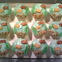 "Goldfish Cupcakes   Our favorite ""snack that smiles back"" on a cupcake!"