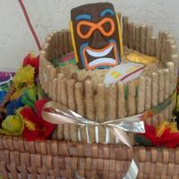 Luau Baby Shower Cake   Final product