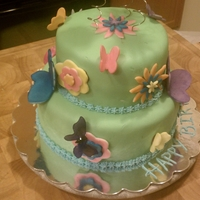 Fondant Flowers With Gelatin Butterflies