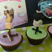 Vintage Mannequins Vanilla cupcakes! I have entered these in the cake masters vintage cupcake comp! Fingers crossed but there are sooo many beautiful ones to...