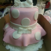 Minnie Mouse Cake   Fondant Minnie Mouse inspired cake