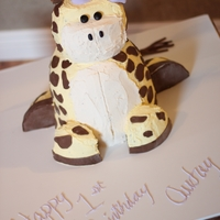 Giraffe Cake   Multi layered cake with buttercream and fondant. http://frostedsosweet.blogspot.com/p/cakes.html