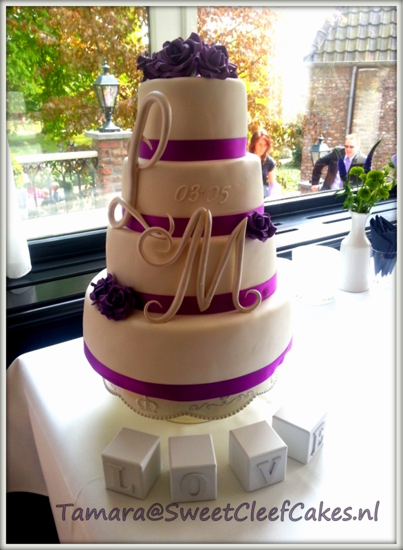 This Wedding Cake In Purple And White Is Simple But Elegant Thats How The Couple Decorated The Room And Balcony Of There Venue I Really L  This wedding cake in purple and white is simple but elegant, that's how the couple decorated the room and balcony of there venue. I...