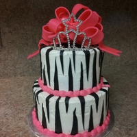Princess Zebra Stripes Cake