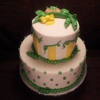 Two Peas In A Pod A baby shower cake for twins!