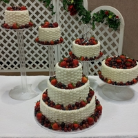 Basketweave Wedding Caake