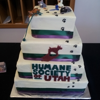 Humane Societ0Y Of Utah : Kitty City Opening I made this cake for the grand opening of the Humane Society of Utah's Kitty City.