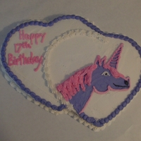 This Is A Birthday Cake This is a birthday cake the customer asked for a pink and puple unicorn