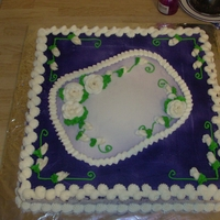 Cake For Church Birthdays This is a cake I did for birthdays at our church. I airbrushed on the purple color.