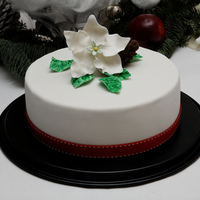 Christmas Rose Cake My first try to make a fondant flower