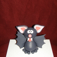 Bat This is my first try to build a fondant- figure. It was for Halloween