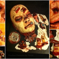 Mr Slash here is my gross cake designed by me all handpainted you can fin my work on fb @Fondant Fantasies By Tanay thank you for looking.