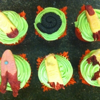 Halloween Cupcakes missing body parts