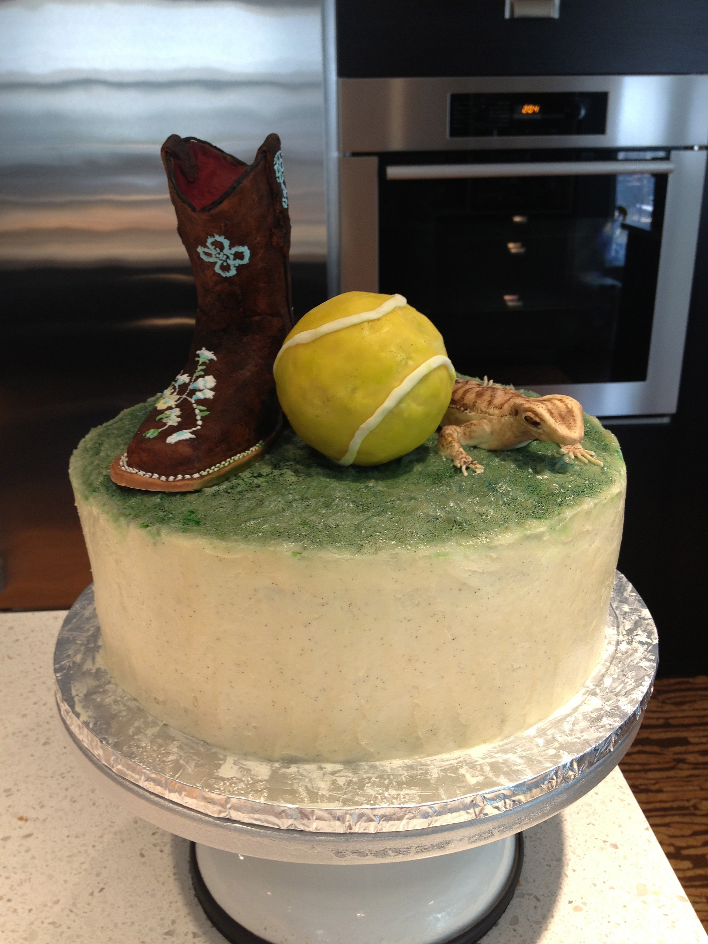 This Was A Cake To Celebrate The Birthdays Of 3 Different People The Boot Was For A Daughter That Rides Horses I Had Her Mom Send Me A Pho... This was a cake to celebrate the birthdays of 3 different people. The boot was for a daughter that rides horses. I had her mom send me a...