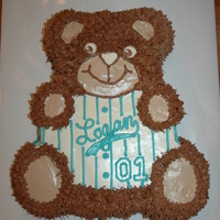 My Baby Bear Is One Today Had To Do The Wilton Teddy Bear Pan One More Time To Match My Other Kids First Birthday Cakes Made Before I Fou My Baby Bear is One Today! Had to do the Wilton Teddy Bear pan one more time to match my other kids' first birthday cakes made before...