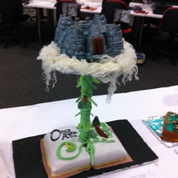 Jack And The Beanstalk   made this for a comp at my tafe and came equal first :) its a chocolate mudcake on the bottom and the castle is made with a vanilla cake.