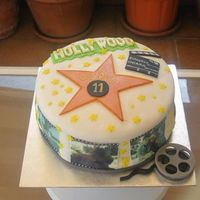 Hollywood Cake *Hollywood cake with sugar paper printed pictures.
