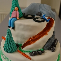 Mountainbike Cake Everything on it is edible