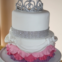 Princess Cake This was made for the little Princess in my life. My first Royal Icing tiara