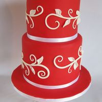 Red Vine Cake Small 6 and 5 inch cakes. Inspiration was taken from a wedding invitation.