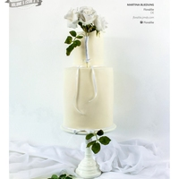 White Wedding   I'm very proud to show you my white wedding cake, which was featured in Cake Central Magazine Volume 5 Issue 3!