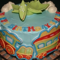 Dinosaur Train Cake This cake is inspired by another Dino Train cake on flicker.