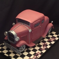 3D/sculpted Model A Ford Hotrod This took approx 24 hrs to make.