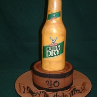 Toohey's Extra Dry Cake This is my first attempt of an upright bottle.