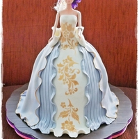 Barbie Cake With Stencil Elegant Style of Barbie Cake